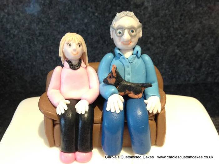 Nan and Grandad cake topper