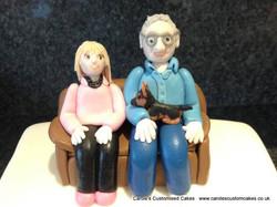 Nan and Grandad cake topper