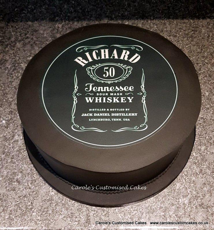 Jack Daniels label cake