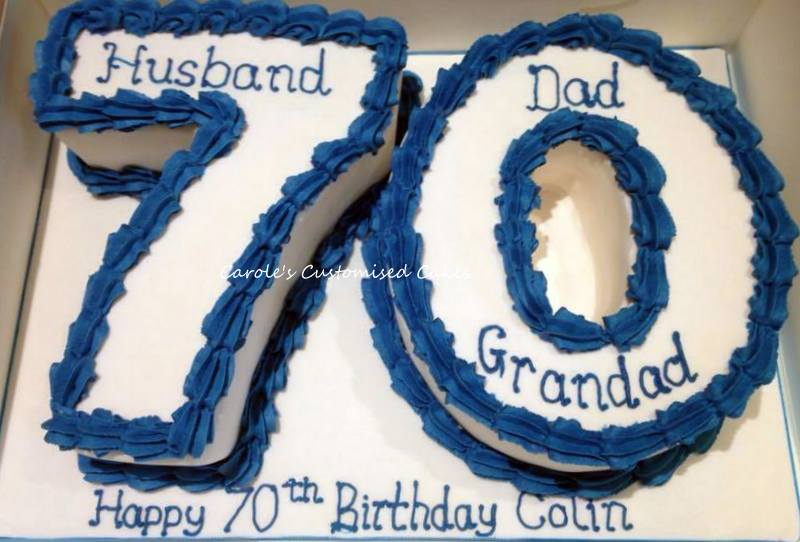 Number 70 cake