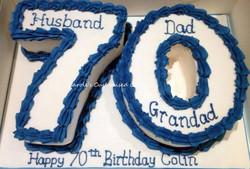 Number 70 cake
