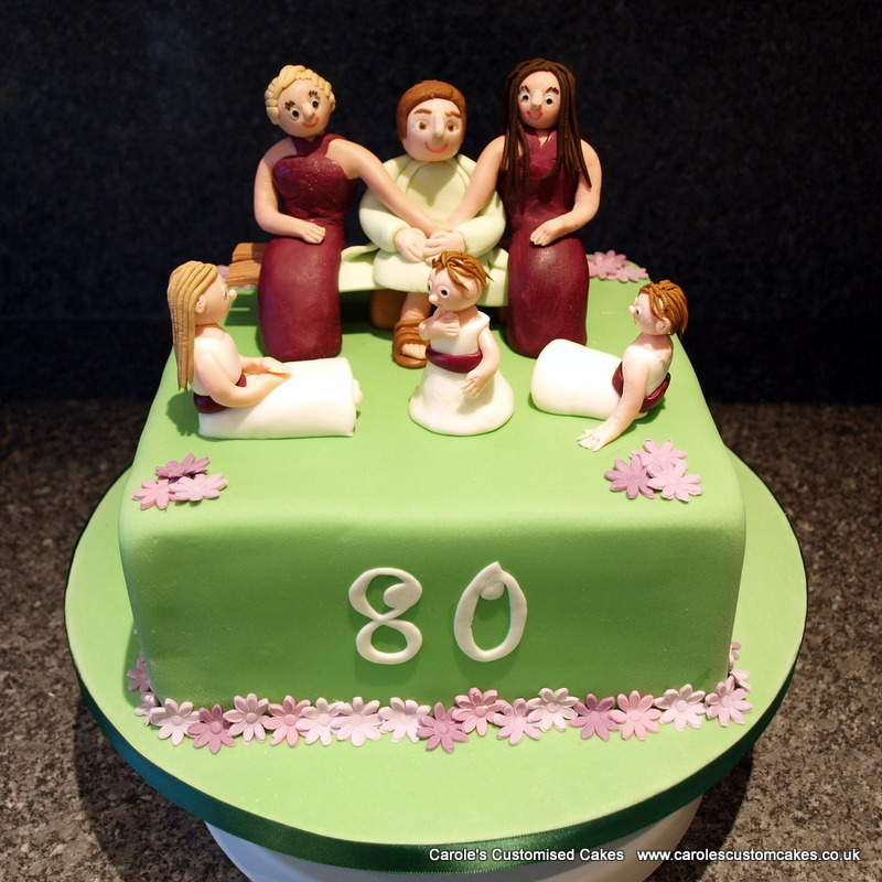 Personalised 80th birthday cake