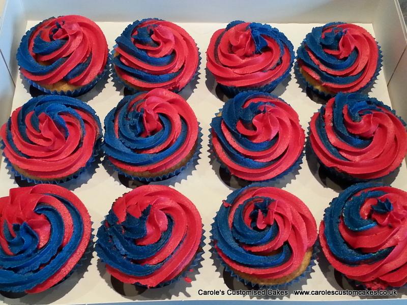 2 tone cupcakes