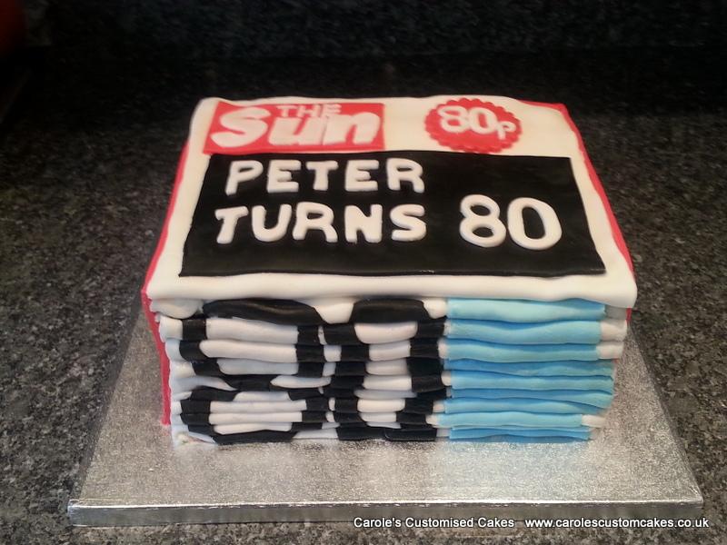 Newspaper cake.