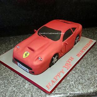 Ferrari 18th birthday cake