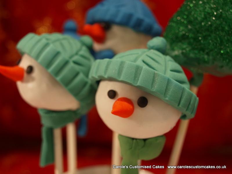 Snowman cakepops