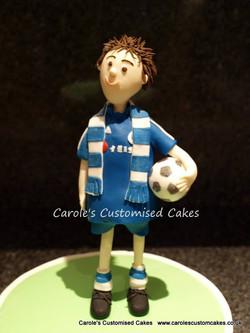 football player cake topper
