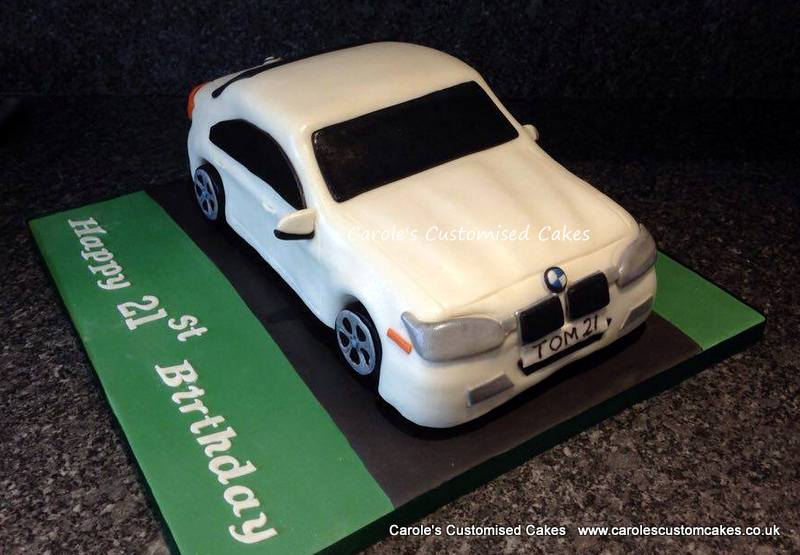 White BMW car cake