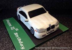 White BMW car cake