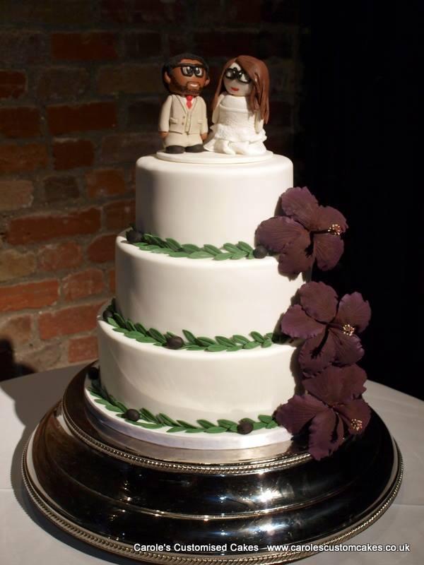 Hibiscus wedding cake