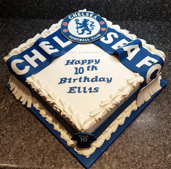 Chelsea fan cake