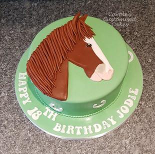 Horse head 21st birthday cake