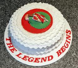 The legend begins cake