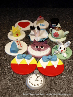 Alice in Wonderland cake toppers
