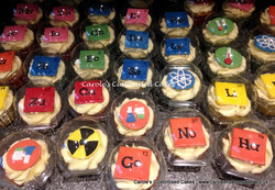 Science themed cupcakes