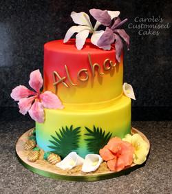 Aloha hibiscus cake