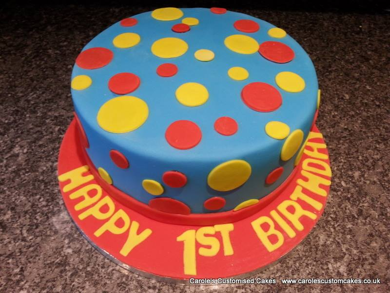 Spotty cake in primary colours.jpg