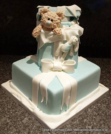 Teddy baby shower cake