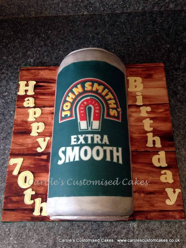 John Smith's beer can cake