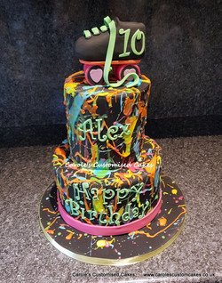 Rollerskate splash cake
