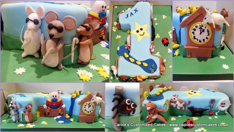 Nursery rhyme number 1 cake