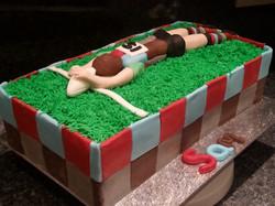 Harlequins rugby cake