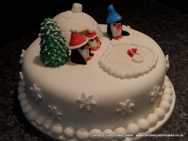 Penguin Christmas cake