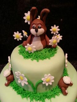 Rabbits cake