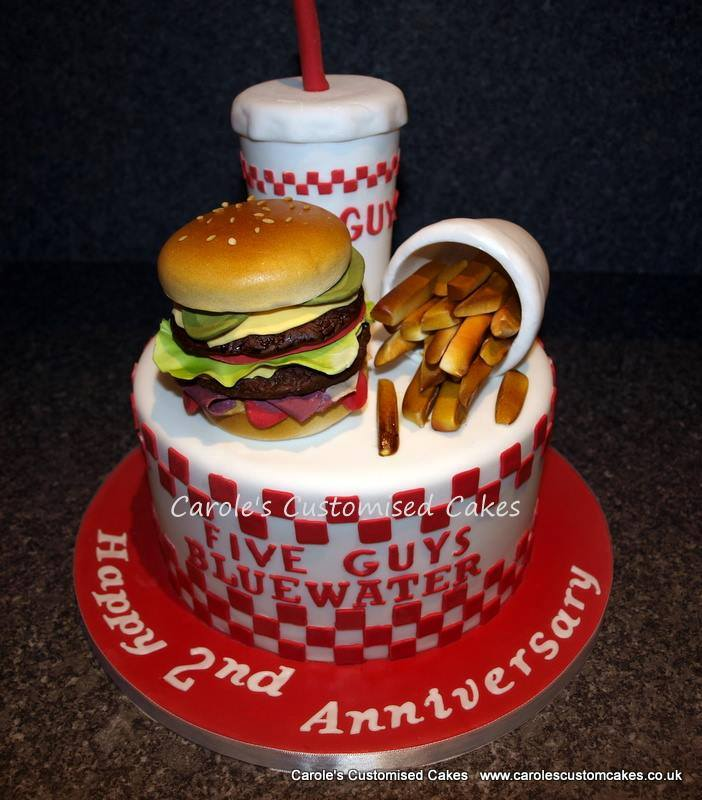 Five Guys burgers and fries cake