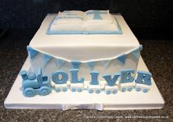 Oliver Christening cake