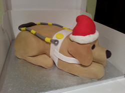 Guide dog cake