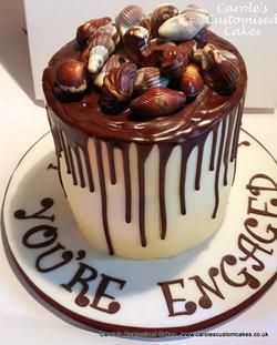 GuyLian drip engagement cake
