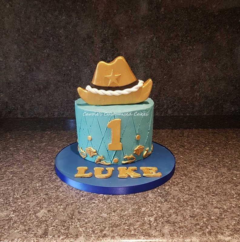 Stetson smash cake