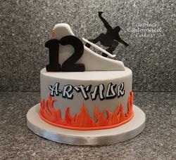 Skateboarding cake