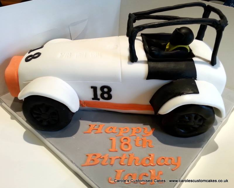 Caterham racing car cake