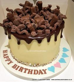 Heart drip cake
