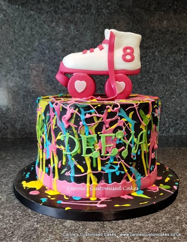 Roller skate cake - one tier