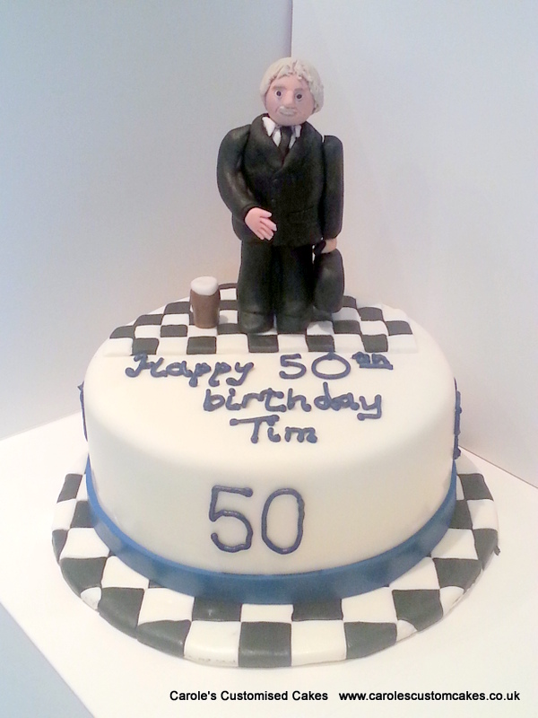 Personalised 50th birthday cake
