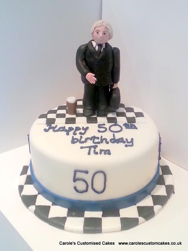 Personalised 50th birthday cake