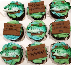 Gone fishing cupcakes