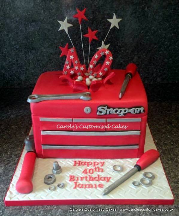 Snap On 40th birthday cake
