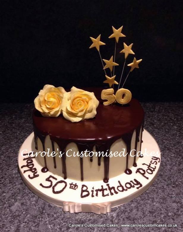 50th birthday drip cake