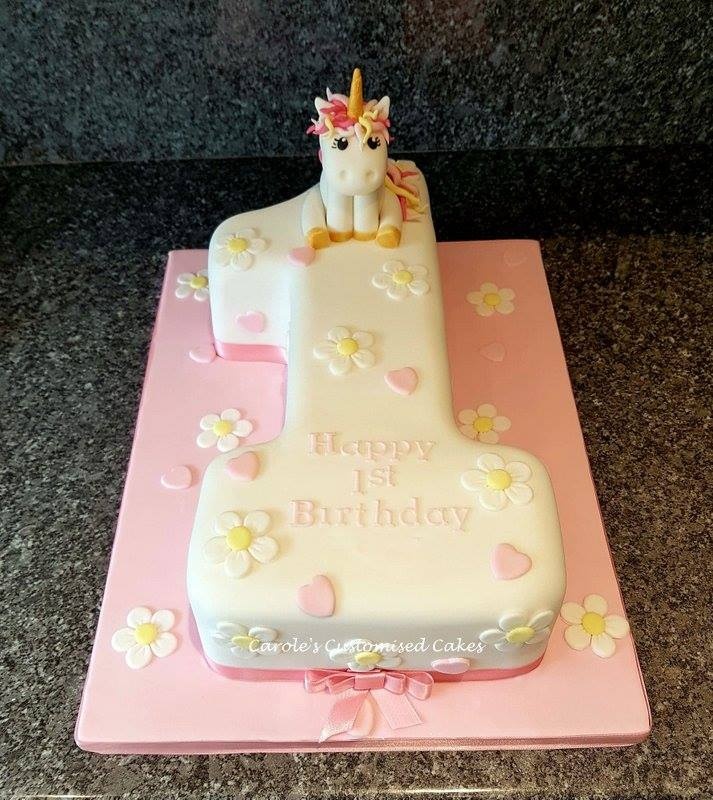 unicorn number 1 cake