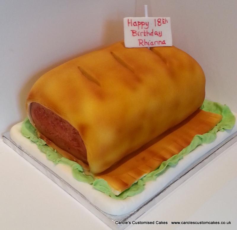 Sausage roll cake
