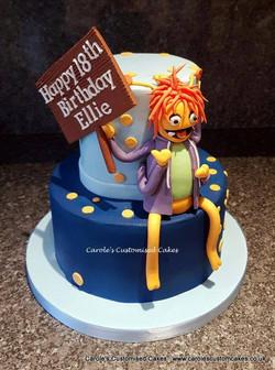 Prawn birthday cake