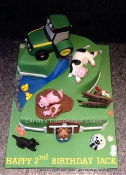 Number 2 farmyard cake