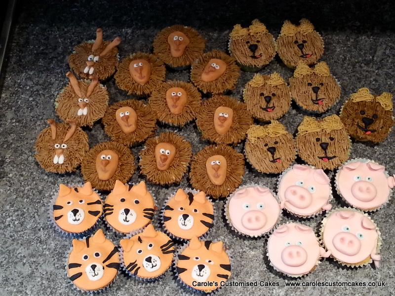 30 animal cupcakes
