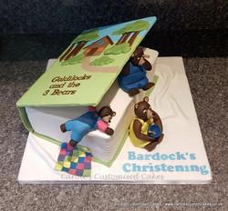 Three bears book cake