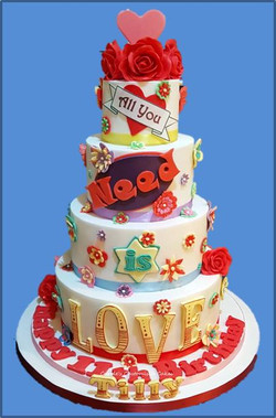 Love is all you need cake