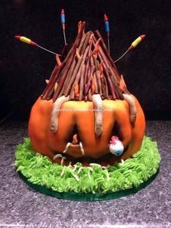 Pumpkin fire cake